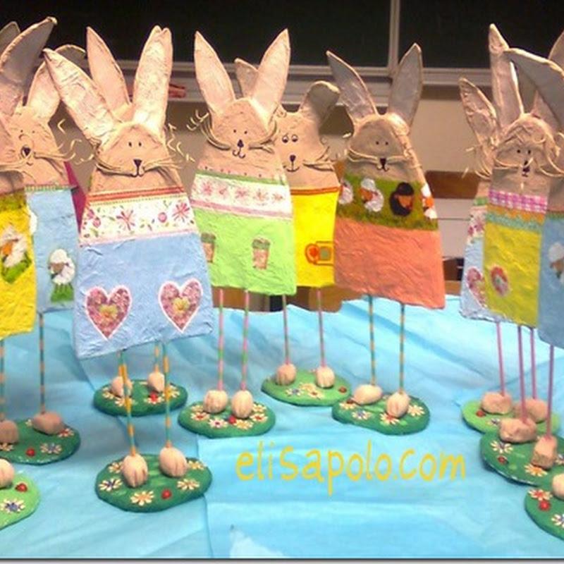 Ideas para conejos Pascua manualidades