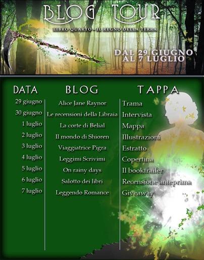 Calendario blogtour il regno della terra