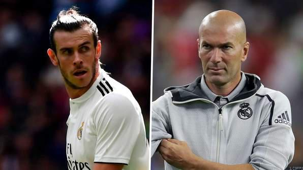 Zinedine Zidane row with Gareth Bale. PHOTO | ESPN