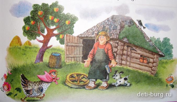 Картинки к сказке петушок и бобовое зернышко