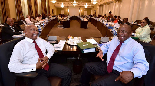 President Jacob Zuma and Deputy President Cyril Ramaphosa.