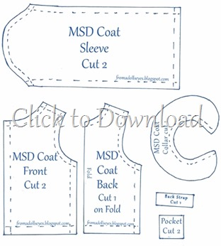 MSD Bjd Felt Coat Pattern