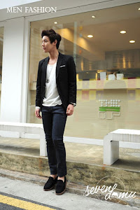 seven domu blazer jas single button black bk01 6