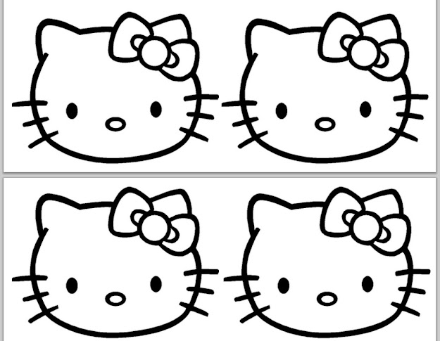 Hello Kitty Coloring Pages Costume Halloween Hello Kitty Cake Template