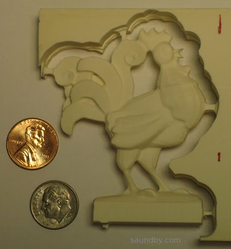 CNC 3D Rooster cut from Butter-Board using Cut3D and EMC2