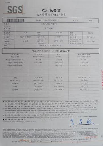 毛刷製造量測工具校正報告─電子磅秤1/2