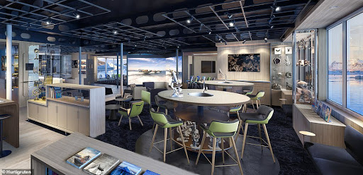 roald-amundsen-science-center.jpg - The Amundsen Science Center aboard Hurtigruten's Roald Amundsen is packed with modern technologies to help guests gain a deeper understanding of the areas you're exploring.