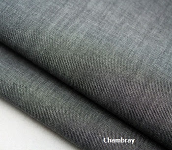 Tela chambray en color gris