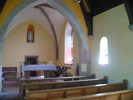 Dans la chapelle du Kirchberg.