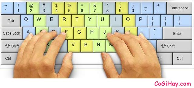 Cách đặt tay để đánh máy 10 ngón