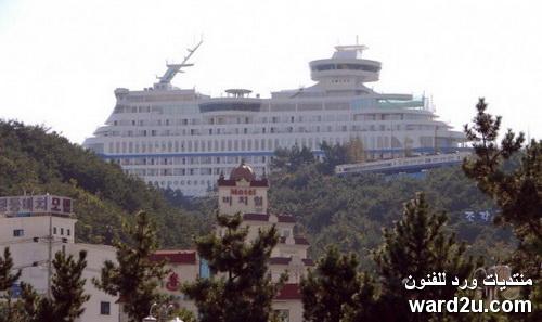 فندق كورى على شكل سفينة