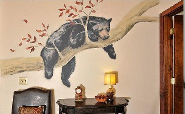 Gambar Lukisan Mural Binatang Paling Simple