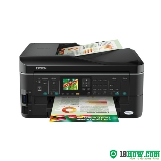 How to reset flashing lights for Epson ME-960FWD printer