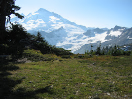 Nice camp spot with view of Mt Baker.