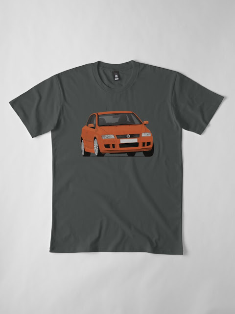 Fiat Stilo Abarth GT  t-shirts orange