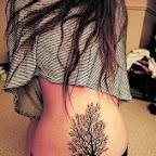 girl trees - Lower Back Tattoos Designs