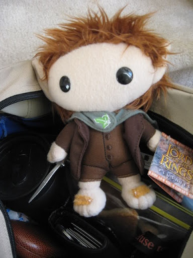 Frodo and my bag o' needed junk