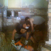 During Excavation » We can work in very small spaces.