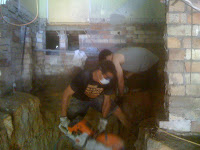 During Excavation» We can work in very small spaces.