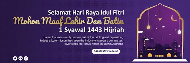 Contoh Banner Download Spanduk Idul Fitri