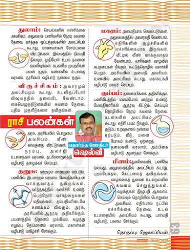 Rasi Palan from Kumudam Weekly for the Period November 23-30, 2015