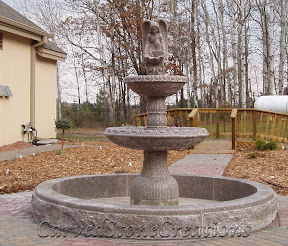 angel fountain, carved stone fountain, estate fountain, Exterior, Fountains, garden fountain, garden fountains, granite fountain, outdoor fountains, Pool Surrounds, stone fountain, stone garden fountain, Tiered