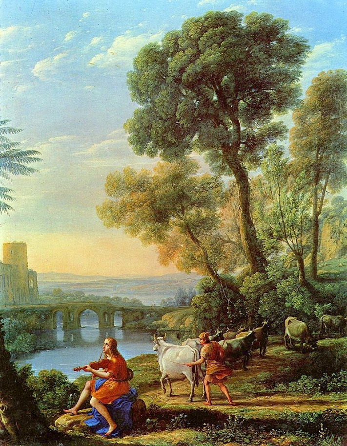 Claude Lorrain - Landscape with Apollo and Mercury