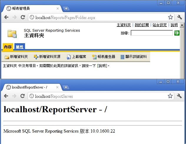 Web Service URL And Report Manager's web page