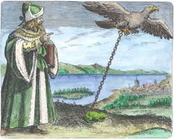 Avicenna From Maier Symbola Aurea Mensae Franckfurt 1617, Alchemical And Hermetic Emblems 2