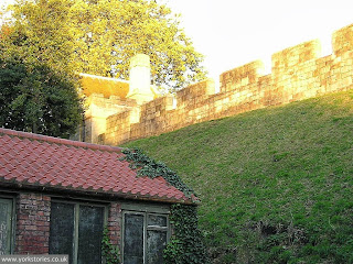 Starting back in October 2004, behind the engine house, in a quiet corner of the Museum Gardens, with sunlight on the city wall