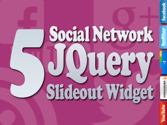 5 Social Network JQuery Widget