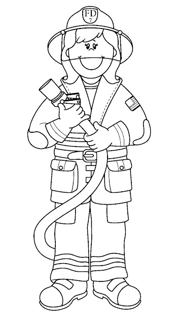 Firefighter For Kids Coloring Page New Photo