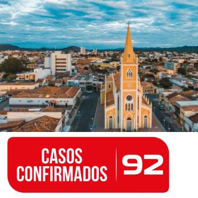 Sobe para 92 o número de casos confirmados de Covid-19 em Serra Talhada
