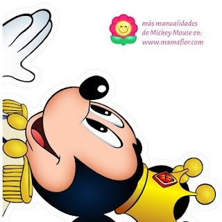 Molde: Mickey Mouse Príncipe Rey - Tamaño A3 (Segunda Parte)