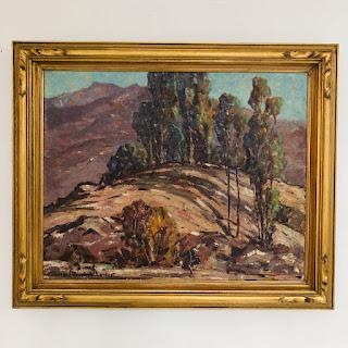 Florence Reinhold Earnist Signed San Jacinto Painting