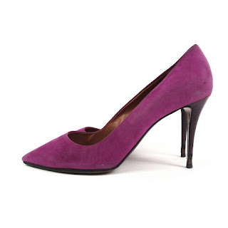 Fendi Magenta Suede Pumps