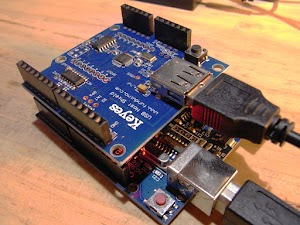 Arduino unoとUSB Host Shield