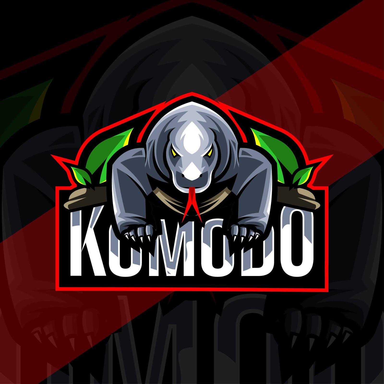Komodo Mascot Logo Esport Template Free Download Vector CDR, AI, EPS and PNG Formats