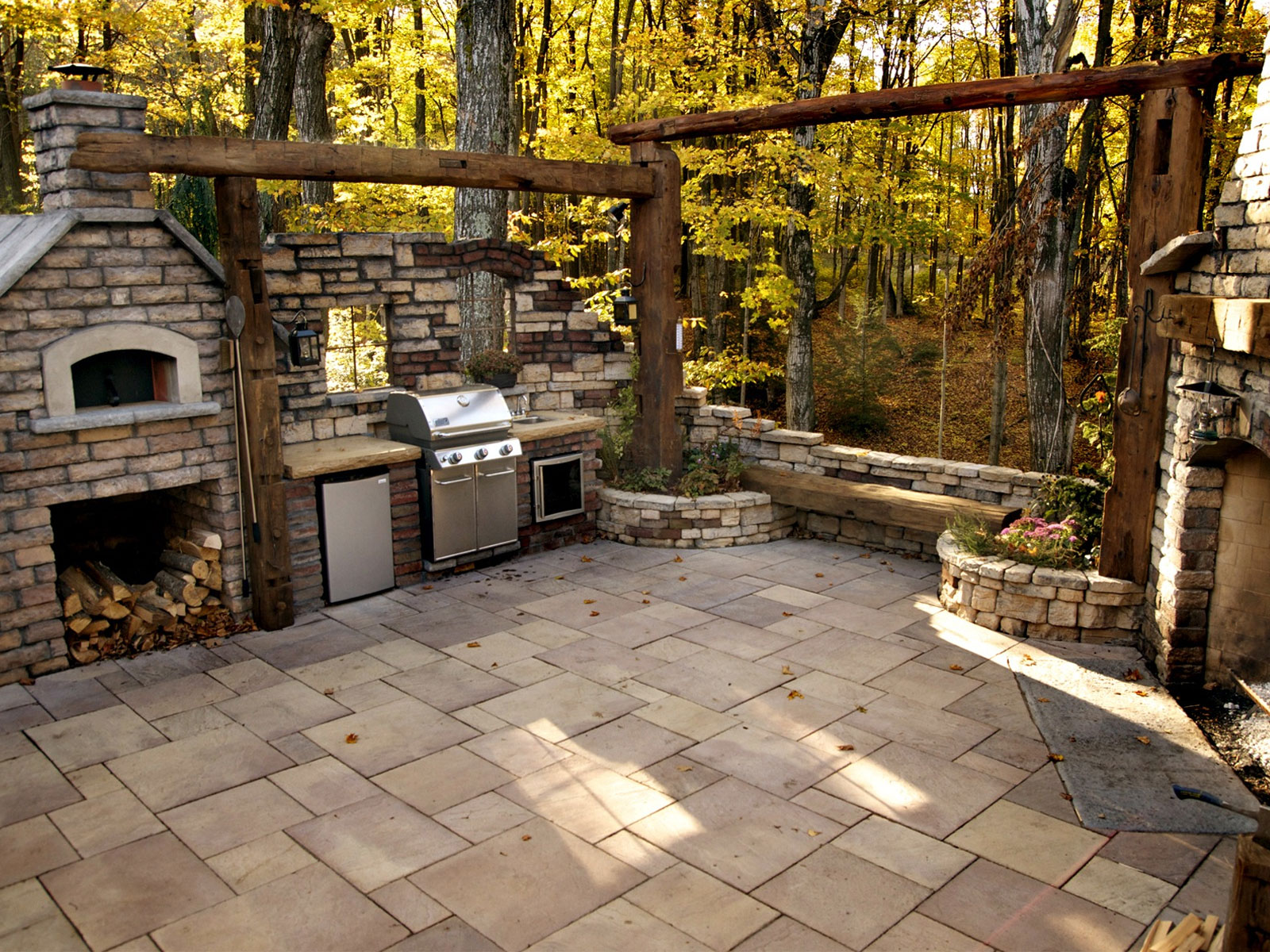 garden design with shouldice designer stone bbq with patio ideas for backyard from shouldicedesigncentreca