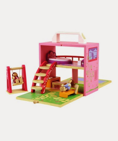 Boxset Dollhouse wooden playset
