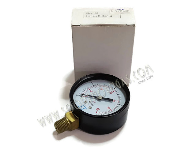 เกจ์วัดแรงดันแก๊ส ( HIGH PRESSURE GAUGE ) JT 0-4 kg./cm2