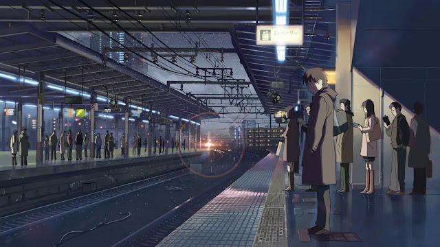 Every Time Im At A C Train Station My Mind Drifts Towards Five Centimeters Per Second Trains Are Featured Frequently In Makoto Shinkais Films And