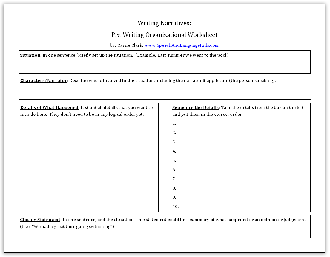 Printables 9th Grade Language Arts Worksheets ultimate guide to teaching written narratives by grade level click here download the pre writing worksheets for free