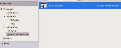 VS Express 2013 for Desktop : Project Types - Visual Studio Solutions option