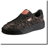 Puma Basket Camouflage Print Platform Sneakers