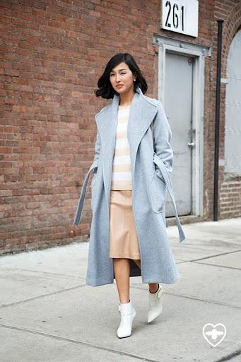 Nicole Warne; blogger; Theory coat; Equipment jumper; Calvin Klein skirt; Nicholas Kirkwood shoes;