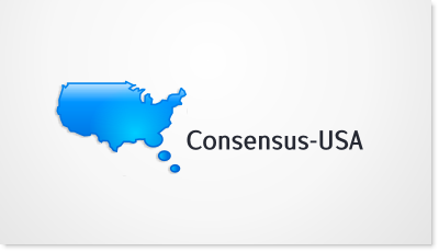 Online opinion sharing for USA citizens logo design