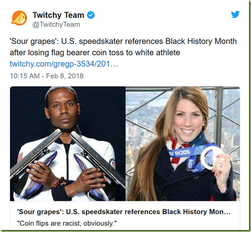 racist coin toss