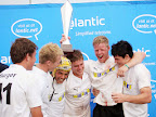 Foto Marius NortjeBradley Moolman van Monnas omhels sy spanmaats en glimlag van oor tot oor nadat hulle die Kampioen van Kampione @Lantic 7's toernooi gewen het.