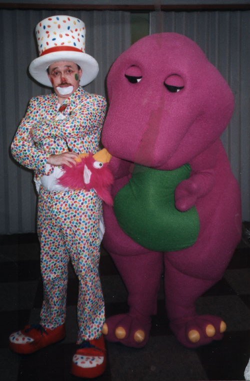 Clown Smartie Pants and Barney
